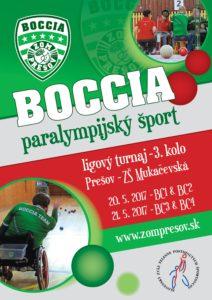 Ligový turnaj BOCCIA - plagat A6